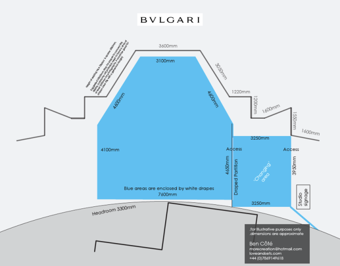 V&A floorplan with draped areas